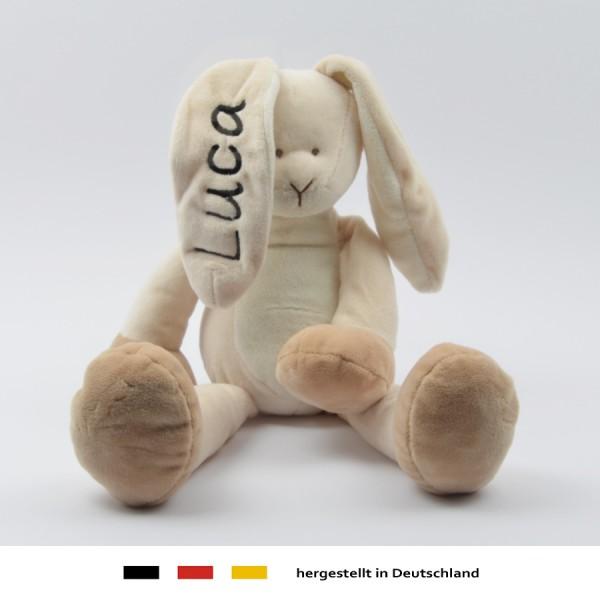 Baby stoff kuscheltier schmusetuch kuschelhase hase mit - Personalisiertes kuscheltier ...