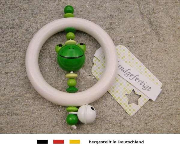 Greifling Rassel Motiv Frosch in grün