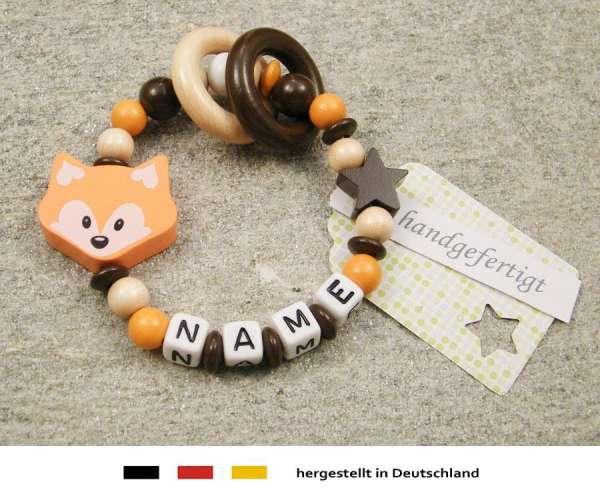 Greifling geschlossen mit Namen – Fuchs in orange