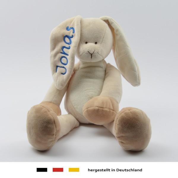 1a9b3b9e9b Baby Stoff Kuscheltier Schmusetuch Kuschelhase Hase mit Namen in ...