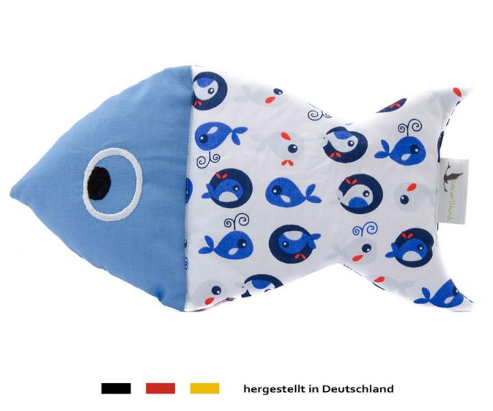Kuscheltier Schnuffelfisch - Wal in blau
