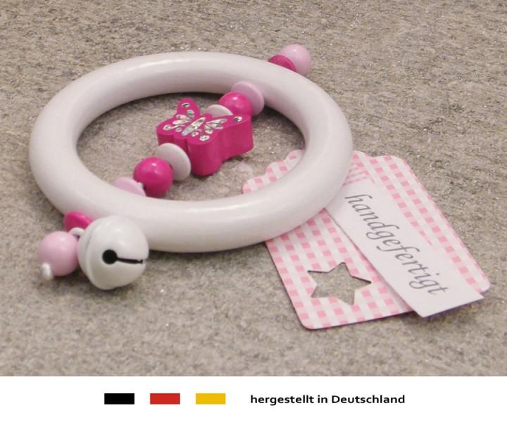 Rassel - Schmetterling in pink